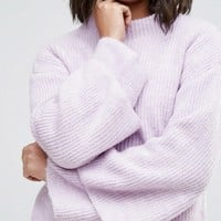 Miss Selfridge Double Flute Sleeve Sweater at asos.com