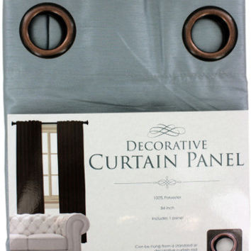 decorative faux silk curtain panel