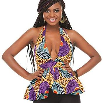 African Print Shirt Women Dashiki Top Traditional Clothing