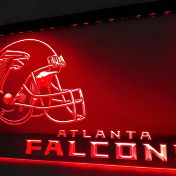 LD311- Atlanta Falcons helmet-LED Neon Light Sign   home decor  crafts