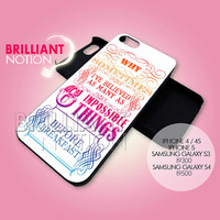 Peterpan Life Quote - iPhone 4/4s/5 Case - Samsung Galaxy S3/S4 Case - Black or White