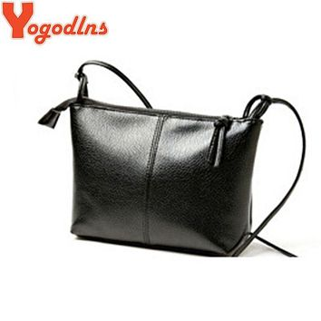 Yogodlns 2017 Women's shoulder bags hot sales PU soft leather handbag Fashion Cross body handbags Black Clutch messenger bags