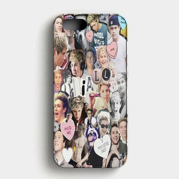 Niall Horan Heart Tshirt White iPhone SE Case