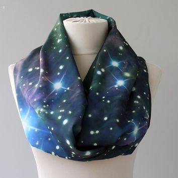 Galaxy scarf nebula space scarf constellation infinity scarf cosmic print