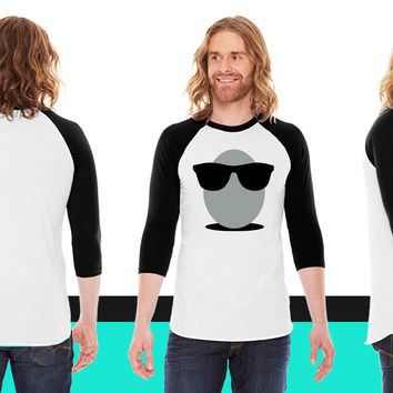 Egg American Apparel Unisex 3/4 Sleeve T-Shirt