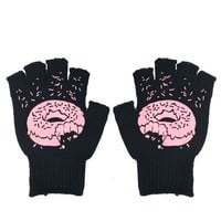 Pink Dount Fingerless Work Gloves