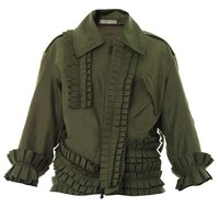 Pleated cotton jacket