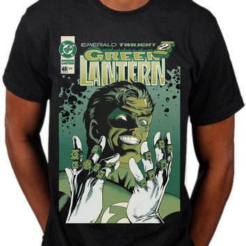 2017 Hot Sale Green Lantern Emerald Twilight T Shirt Dc Comics Superhero Marvel Merch Printed T Shirt Harajuku Tee Shirts