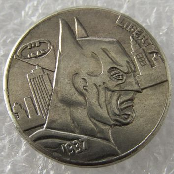Batman Hobo Nickel 1937-D 3-Legged Buffalo Nickel Rare Creation Coin High Quality