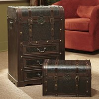 Set of 2 Faux Leather Storage Trunks from Midnight Velvet?-
