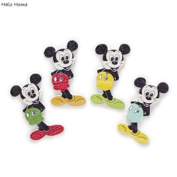 pcs  Cartoon  Mickey  Mouse  Buttons  Clothing  Decor