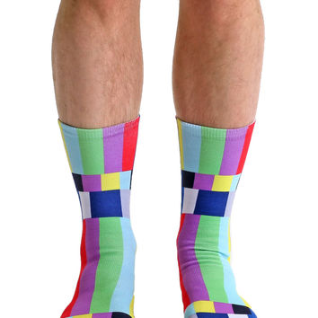 TV Warning Crew Socks