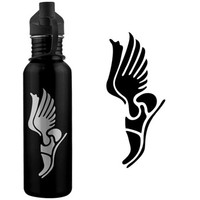 Track & Field Winged Shoes 24 oz Stainless Steel Water Bottle -LE | Track & Field Water Bottles | Stainless Steel Water Bottles