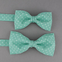 Mint Green Bow Ties for Father & Son Mint Bow Tie Father Son Gift Toddler Bow Tie Wedding Bow Tie Groom Ring Bearer Bow Tie Gift for Father