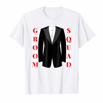 Groom Squad Tuxedo T-Shirt - Bridal Party Groomsmen Shirt