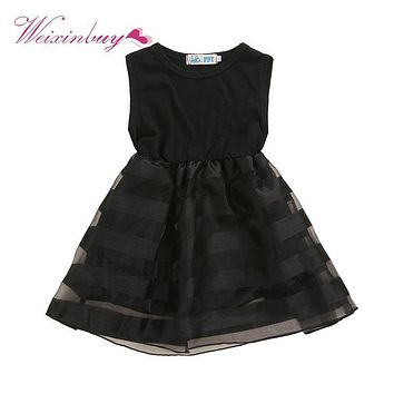 Summer Children Girls Tulle Tutu Dress Princess Party Pageant Wedding Flower vestido 2-8Year TQ