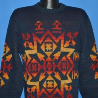 70s Pendleton Blue Native Pattern Sweater Medium