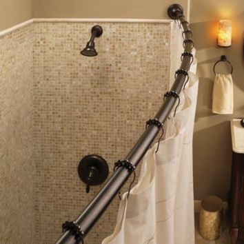Moen® Adjustable Curved Old World Bronze Shower Rod
