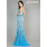 Jovani 4343 Strapless Sequin Evening Gown