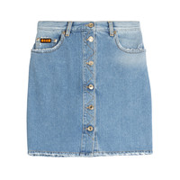 MSGM - Denim Skirt with Applique