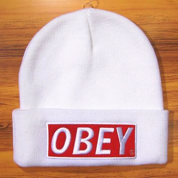One-nice™ Perfect OBEY Hip Hop Women Men Beanies Winter Knit Hat Cap