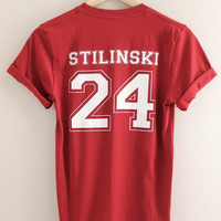 Stilinski 24 Red Graphic Unisex Tee - Teen Wolf Inspired