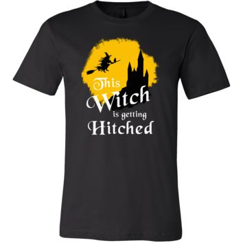 Funny This Witch Is Getting Hitched Halloween Costume Shirt