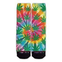 Function - Weed Plant Tie Dye Fashion Socks
