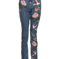 **Embroidered Mom Jeans by Glamorous Tall - New In Petite, Tall & Maternity - New In