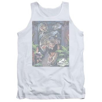 Jurassic Park - Giant Door Adult Tank Top Officially Licensed Apparel