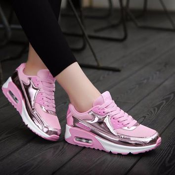 Women's Comfortable Platform Walking Sneakers Shoes