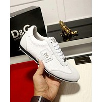 Dolce & Gabbana 2019 new personality versatile high quality men's casual shoes shoes white
