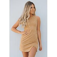 Just For The Record Dress (Camel)