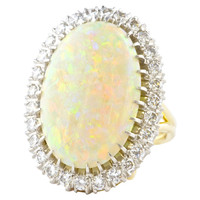 Colorful Opal Gold Ring