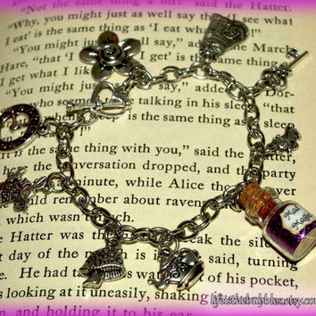 Alice in Wonderland Mad Magic Charm Bracelet by LifeistheBubbles