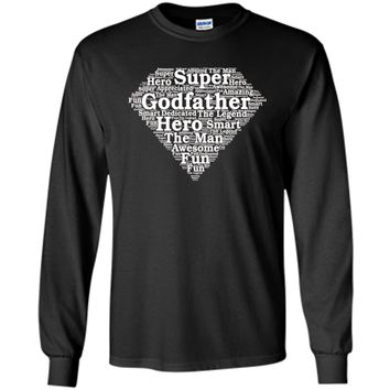 Mens Godfather Gift Superhero Shirt