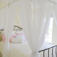 """Bed Canopy. """"Floating"""" bed canopy for twin, full, quenn and king size beds."""