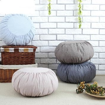 Japan&Korean cotton&linen Pumpkin Cushion pillow futon removable Washable sofa cushions tatami meditation Cushion Yoga cushion