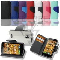 Magnetic Closure Flip Wallet Stand Case for Alcatel One Touch Fierce 7024W