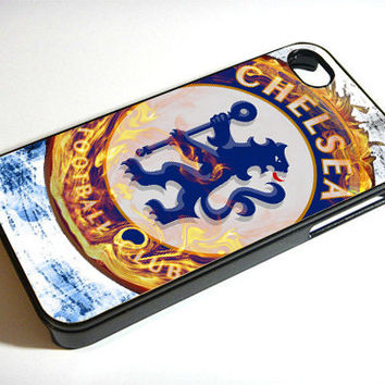 Chelsea FC Fire - Print on iPhone 4/4s Case - iPhone 5 Case - Samsung Galaxy S3 - Samsung Galaxy S4