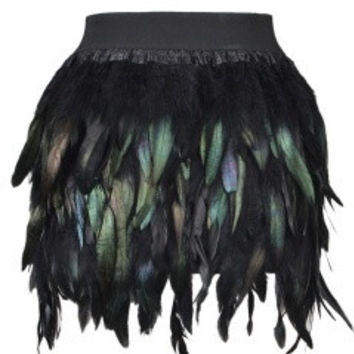Feather Mini Skirt = 1945800388