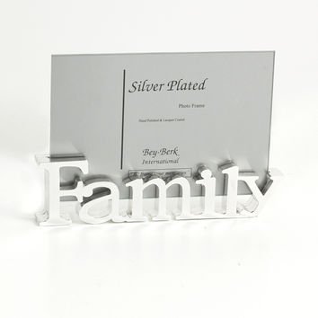 "Silver Plated ""Family"" Picture Frame"