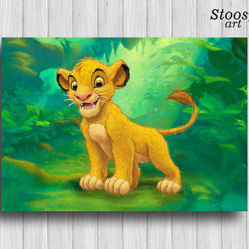 Simba lion king nursery poster disney wall art kids print