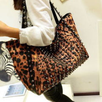 Winter Leopard Bags Shoulder Bags Messenger Bags Tote Bag [6046886913]