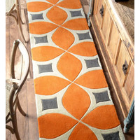 nuLOOM Barcelona Deep Orange Gabriela Area Rug