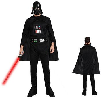 Fashion Design Man Deluxe Star Wars Costume Darth Vader Jumpsuits With Cape Adults Festival Carnival Party Cosplay Costume