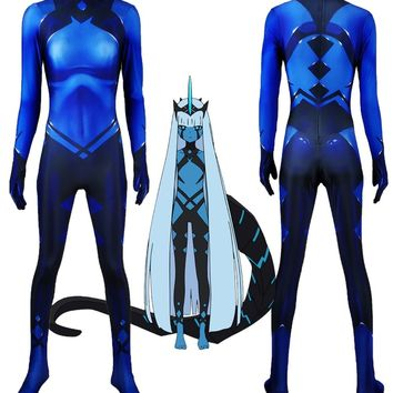 Klaxosaur Princess Darling in the Franxx 001 Cosplay Costume 3D Print Lycra Zentai Halloween Catsuit Custom Made Bodysuit