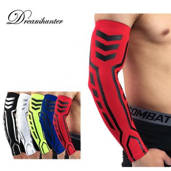 Basketball Volleyball Arm Sleeves Compression Cycling Arm Protectors High Elastic Arm Support Outdoor Sports Running Arm Support
