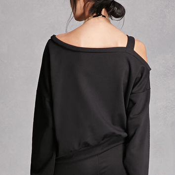Open-Shoulder Sweatshirt