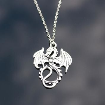 N807 Monster Dragon Pendant Necklace Fashion Jewelry Collares Chain Necklaces Bijoux For Women Men